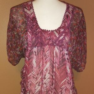 Xhilaration size M. Red top loose fit.